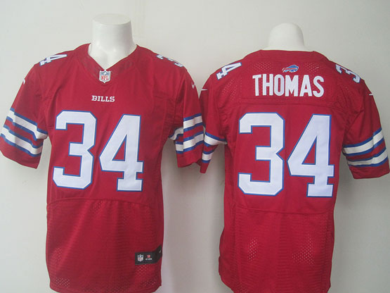 mens nfl buffalo bills #34 Thurman Thomas red elite jersey