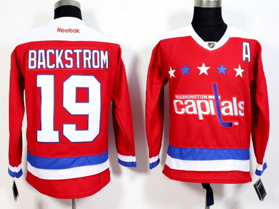 Mens Reebok Nhl Washington Capitals #19 Backstrom Red 2016 Winter Classic Jersey