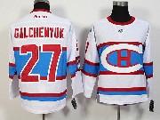 Mens Nhl Montreal Canadiens #27 Galchenyuk White 2016 Winter Classic Jersey