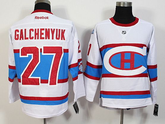 Mens Nhl Montreal Canadiens #27 Galchenyuk White 2016 Winter Classic Jersey