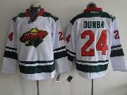 Mens Reebok Nhl Minnesota Wild #24 Dumba White Jersey