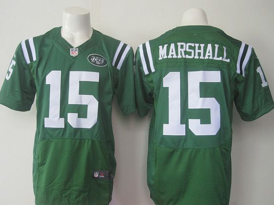 Mens Nfl New York Jets #15 Brandon Marshall Green (2015) Elite Jersey