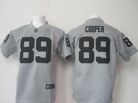 mens nfl Oakland Raiders #89 Amari Cooper gray (black number) limited jersey