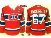 Women Reebok Nhl Montreal Canadiens #67 Pacioretty Red (ch) Lacing Jersey