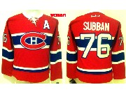 Women Reebok Nhl Montreal Canadiens #76 Subban Red (ch) Lacing Jersey