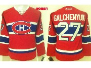 Women Reebok Nhl Montreal Canadiens #27 Galchenyuk Red (ch) Lacing Jersey
