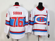 Youth Reebok Nhl Montreal Canadiens #76 Subban White 2016 Winter Classic Jersey