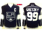 women reebok nhl los angeles kings #99 Wayne Gretzky black jersey