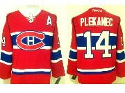 Mens Reebok Nhl Montreal Canadiens #14 Plekanec Red (ch) Lacing Jersey