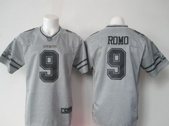 Mens Nfl Dallas Cowboys #9 Romo Gray (black Number) Limited Jersey