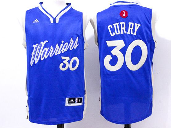 Mens Nba Golden State Warriors #30 Curry Blue (2016 Christmas) Jersey