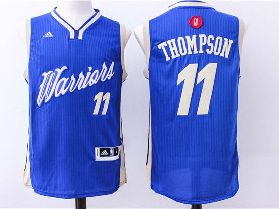 mens nba Golden State Warriors #11 Klay Thompson blue (2016 christmas) jersey