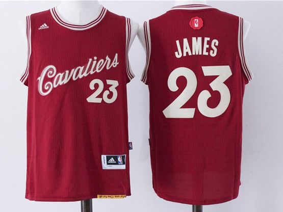 Mens Nba Cleveland Cavaliers #23 Lebron James Red (2016 Christmas) Jersey
