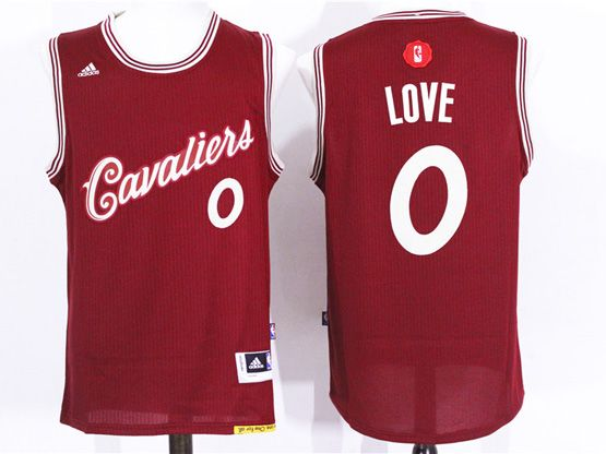 Mens Nba Cleveland Cavaliers #0 Kevin Love Red (2016 Christmas) Jersey