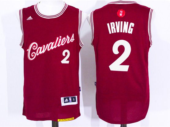 Mens Nba Cleveland Cavaliers #2 Irving Red (2016 Christmas) Jersey