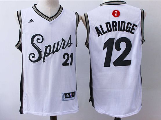 Mens Nba San Antonio Spurs #12 Aldridge White (2016 Christmas) Jersey