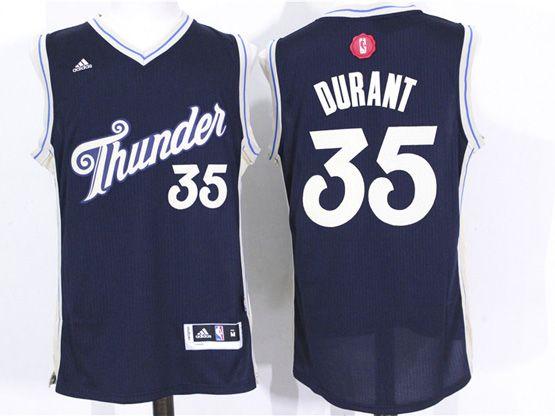 Mens Nba Oklahoma City Thunder #35 Durant Dark Blue (2016 Christmas) Jersey
