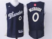 mens nba Oklahoma City Thunder #0 Russell Westbrook dark blue (2016 christmas) jersey