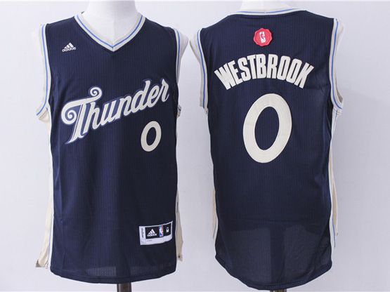 mens nba Oklahoma City Thunder #0 Russell Westbrook dark blue (2016 christmas) jersey