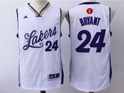Mens Nba Los Angeles Lakers #24 Kobe Bryant White (2016 Christmas) Jersey
