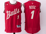 Mens Nba Chicago Bulls #1 Rose Red (2016 Christmas) Jersey