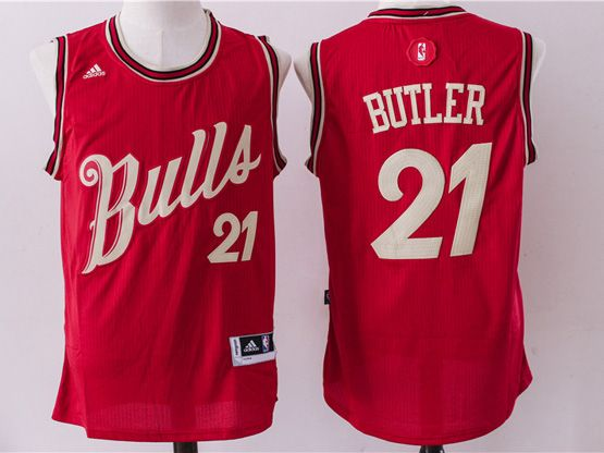 Mens Nba Chicago Bulls #21 Butler Red (2016 Christmas) Jersey