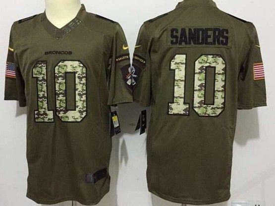 Mens Nfl Denver Broncos #10 Sanders Green Salute To Service Limited Jersey