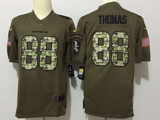 Mens Nfl Denver Broncos #88 Thomas Green Salute To Service Limited Jersey