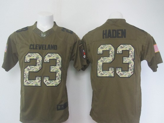 Mens Nfl Cleveland Browns #23 Haden Green Salute To Service Limited Jersey