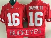 Mens Ncaa Nfl Ohio State Buckeyes #16 Barrett Red (collar Team Name) Jersey
