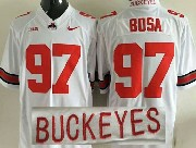 Mens Ncaa Nfl Ohio State Buckeyes #97 Bosa White Jersey