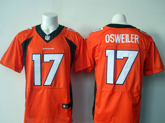 Mens Nfl Denver Broncos #17 Osweiler Orange Elite Jersey