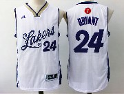 Mens Nba Los Angeles Lakers #24 Bryant White Red (2016 Christmas) Jersey