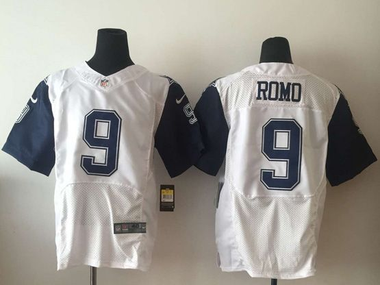 Mens Nfl Dallas Cowboys #9 Romo White (2015 New) Thanksgiving Elite Jersey