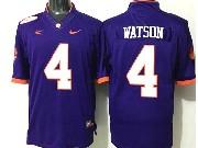 Mens Ncaa Nfl Clemson Tigers #4 Watson Purple Limited Jersey