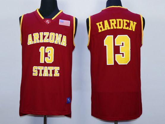 Mens Ncaa Nba Arizona State Sun Devils #13 Harden Red Jersey