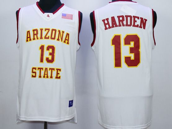 Mens Ncaa Nba Arizona State Sun Devils #13 Harden White Jersey
