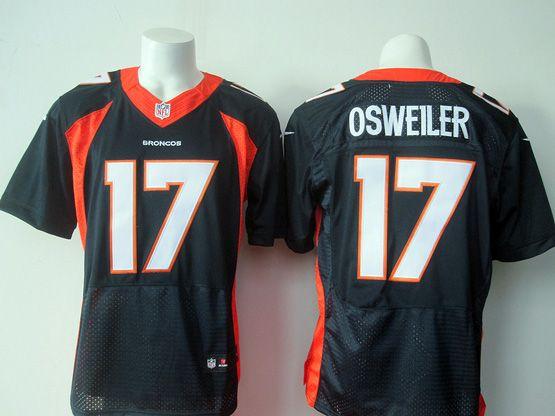 Mens Nfl Denver Broncos #17 Osweiler Blue Elite Jersey