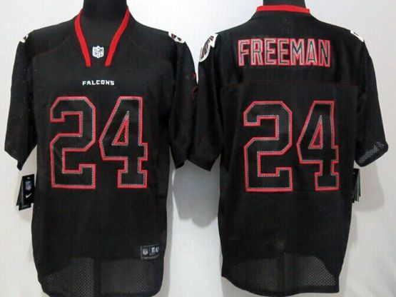 Mens Nfl Atlanta Falcons #24 Freeman Black (new Lights Out) Elite Jersey