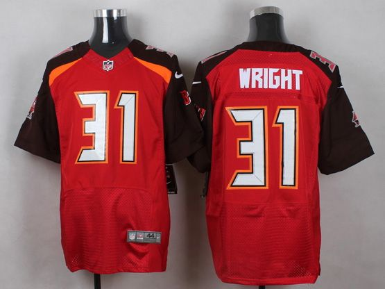 Mens Nfl Tampa Bay Buccaneers #31 Wright Red (2014 New) Elite Jersey