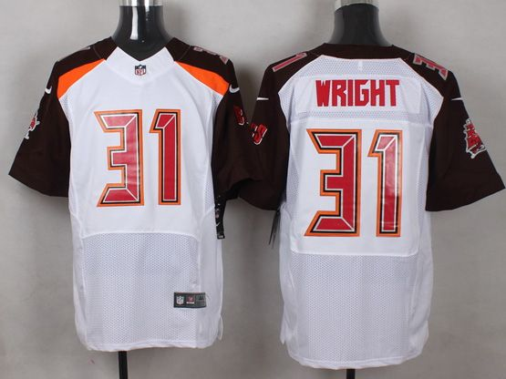 Mens Nfl Tampa Bay Buccaneers #31 Wright White (2014 New) Elite Jersey