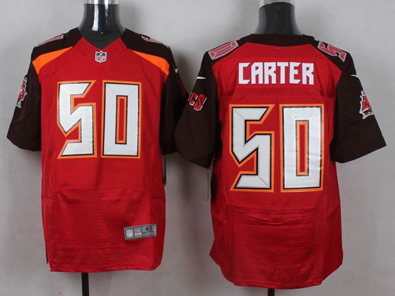 Mens Nfl Tampa Bay Buccaneers #50 Carter Red (2014 New) Elite Jersey
