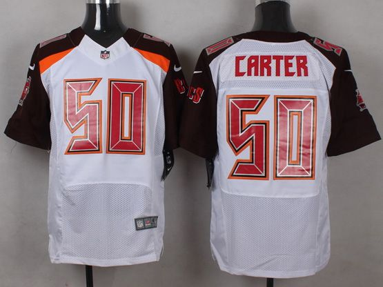 Mens Nfl Tampa Bay Buccaneers #50 Carter White (2014 New) Elite Jersey
