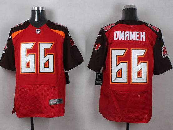 Mens Nfl Tampa Bay Buccaneers #66 Omameh Red (2014 New) Elite Jersey