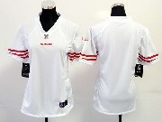 Women  Nfl San Francisco 49ers (blank) White Limited Jersey
