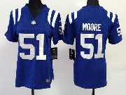 Women  Nfl Indianapolis Colts #51 Moore Blue Game Jersey