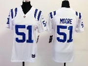 Women  Nfl Indianapolis Colts #51 Moore White Game Jersey