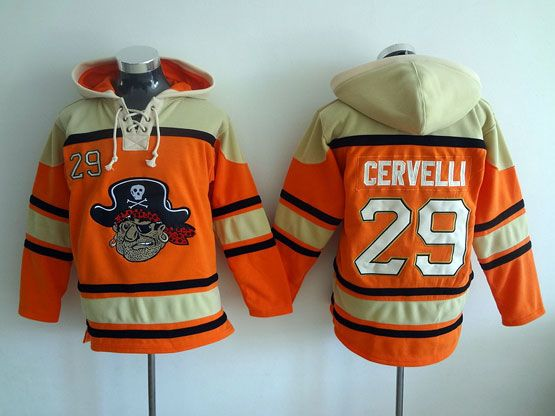 Mens Mlb Pittsburgh Pirates #29 Cervelli Orange Hoodie Jersey