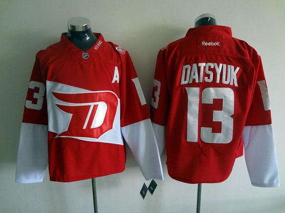 Mens Reebok Nhl Detroit Red Wings #13 Datsyuk Red (2016 Stadium Series) Jersey