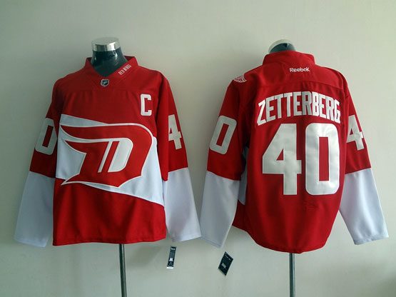 Mens Reebok Nhl Detroit Red Wings #40 Zetterberg Red (2016 Stadium Series) Jersey